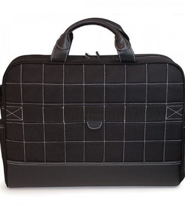 Sumo Professional Laptop Briefcase - Trolley strap for use with rolling luggage