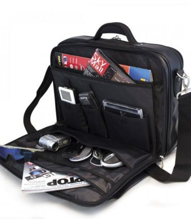 Premium Briefcase - Black (Laptop Bag) - Workstation