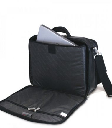 Premium Briefcase - Black (Laptop Bag) - Laptop Compartment