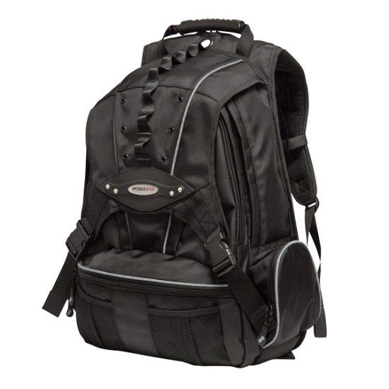 Premium Backpack - Black with Silver Trim - Holds laptops up to 17.3 inch