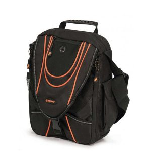 Mini Messenger - Black / Orange-0