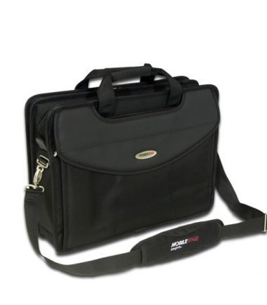Premium V-Load - 17 inch Laptop Briefcase: Bungee Comfort System help absorb shock and impact when carrying the case