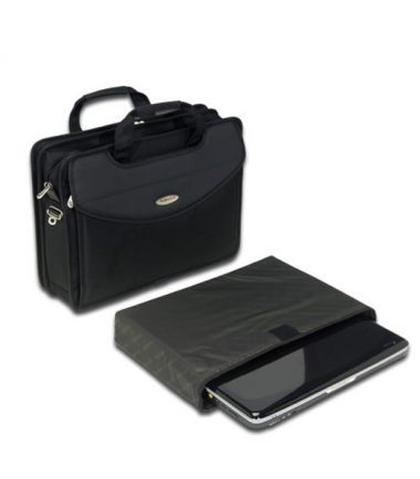 Premium V-Load - 17 inch Laptop Briefcase: Removable, padded, laptop protection compartment