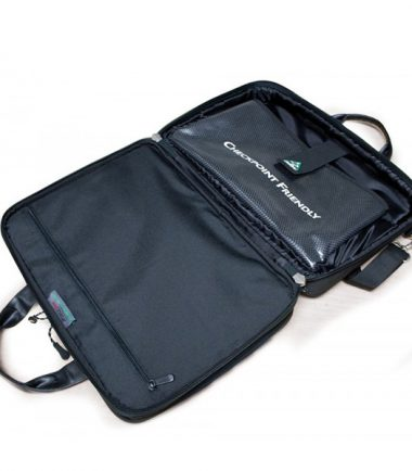 ScanFast Checkpoint Friendly Briefcase 2.0 - Opens flat to pass through airport security without removing your laptop