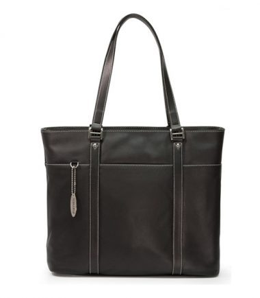 Ultra Tote - Black Leather - Removable computer section that allows you to carry it as a beautiful leather tote.