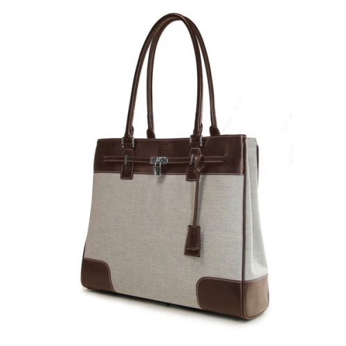 Madison Tote - Taupe / Chocolate-0