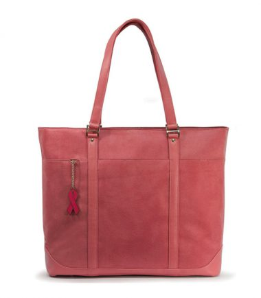Pink Faux-Suede Tote-20469