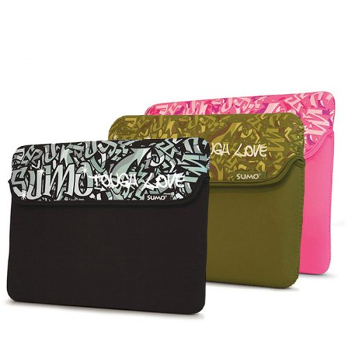 "Sumo Graffiti Sleeve - 13"" Black-0"