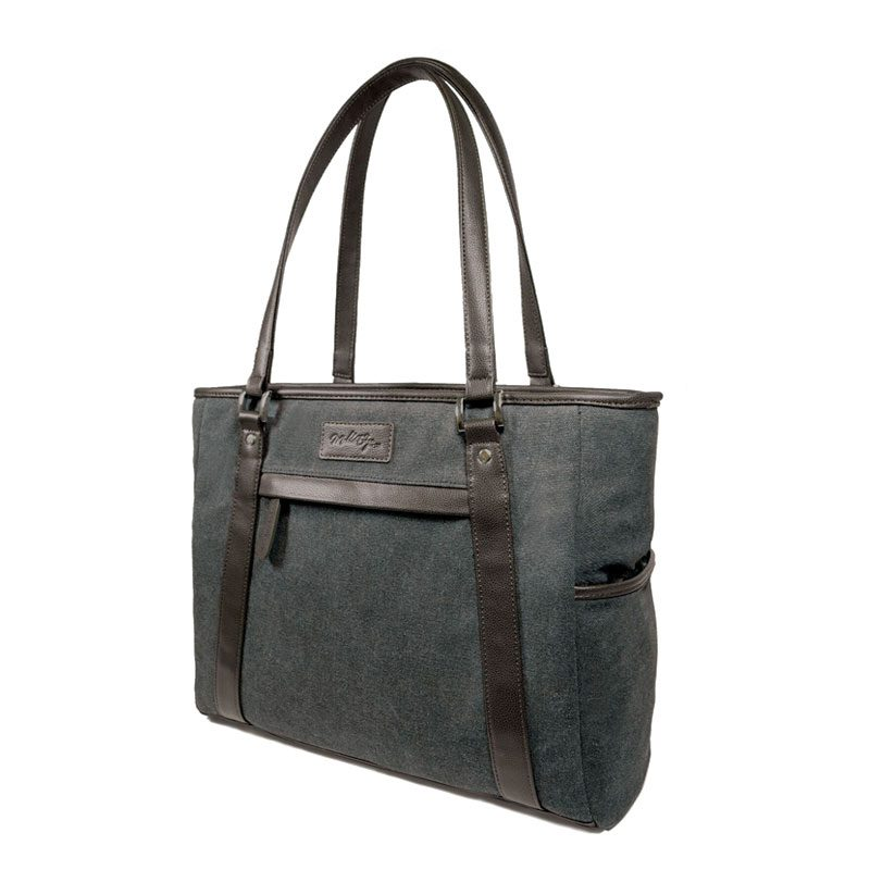 Urban Laptop Tote with Brown Trim METMS52