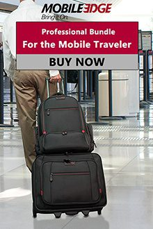 Professional Bundle For the Mobile Traveler. Professional rolling case and backpack