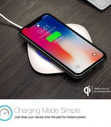 Power Pad Qi Wireless Fast Charger - Charging Made Simple White