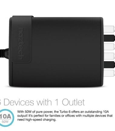 Wall Charger Turbo 6 USB 6 Devices with 1 Outlet