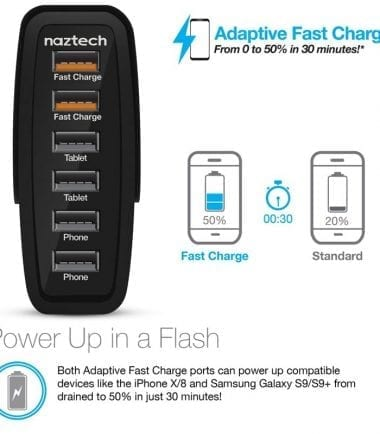 Wall Charger Turbo 6 USB Power Up in a Flash